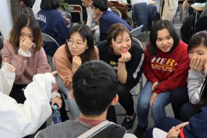 Exchange class with Japanese High school students