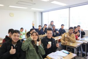 同學們體驗了日本文化(年糕)
