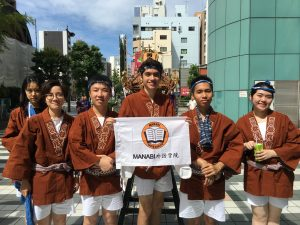 Students in MANABI and teachers participated in Ryogoku Festival