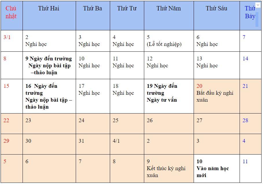 Thông báo về lịch trình dự kiến NAGANO