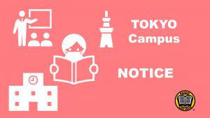 HỌC VIỆN NGOẠI NGỮ MANABI Phân viện Tokyo THÔNG BÁO VỀ VIỆC THAY ĐỔI LỊCH ĐẾN TRƯỜNG